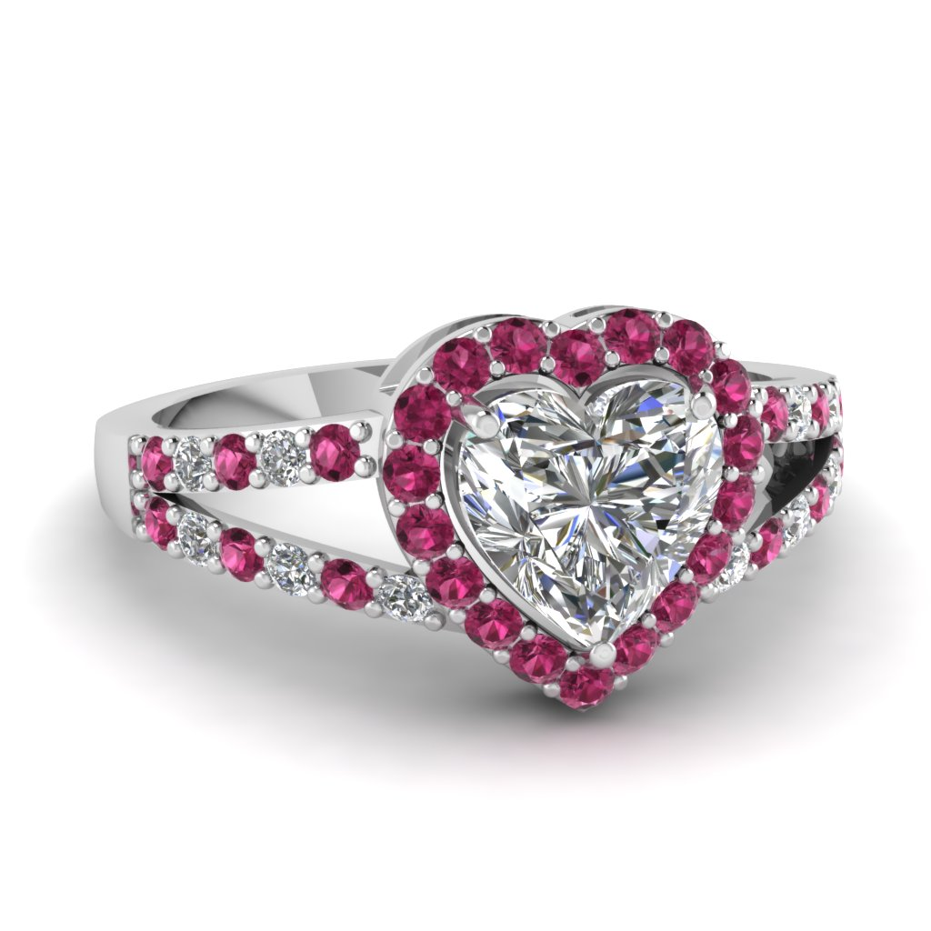 heart pink sapphire halo split diamond engagement ring in FD1034HTRGSADRPI NL WG.jpg