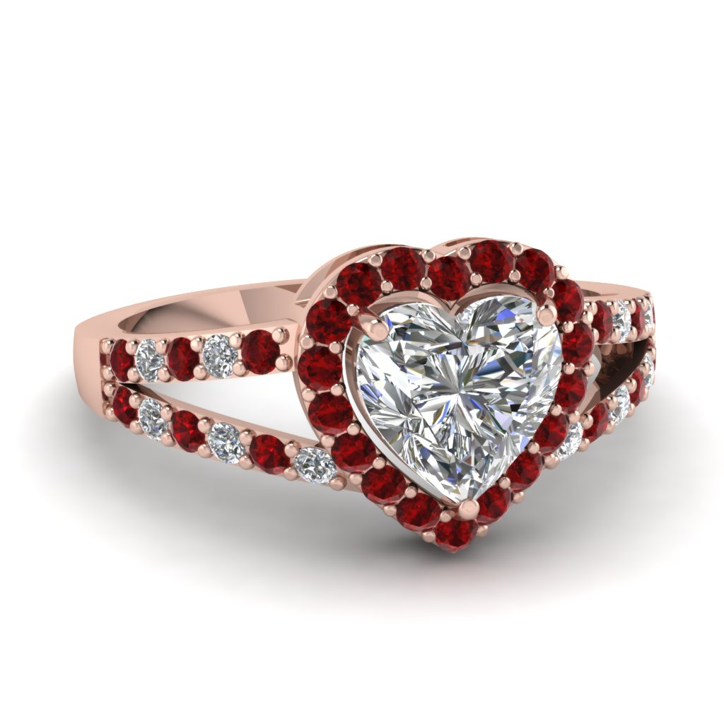 Ruby Split Shank Wedding Ring