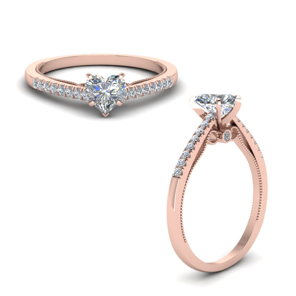 Heart Diamond High Set Ring