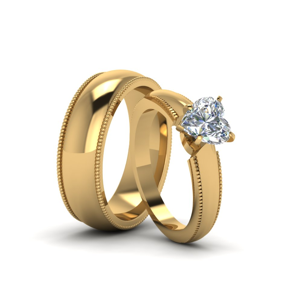 bands products vidar and unique black boutique hers rings wedding his matching gold