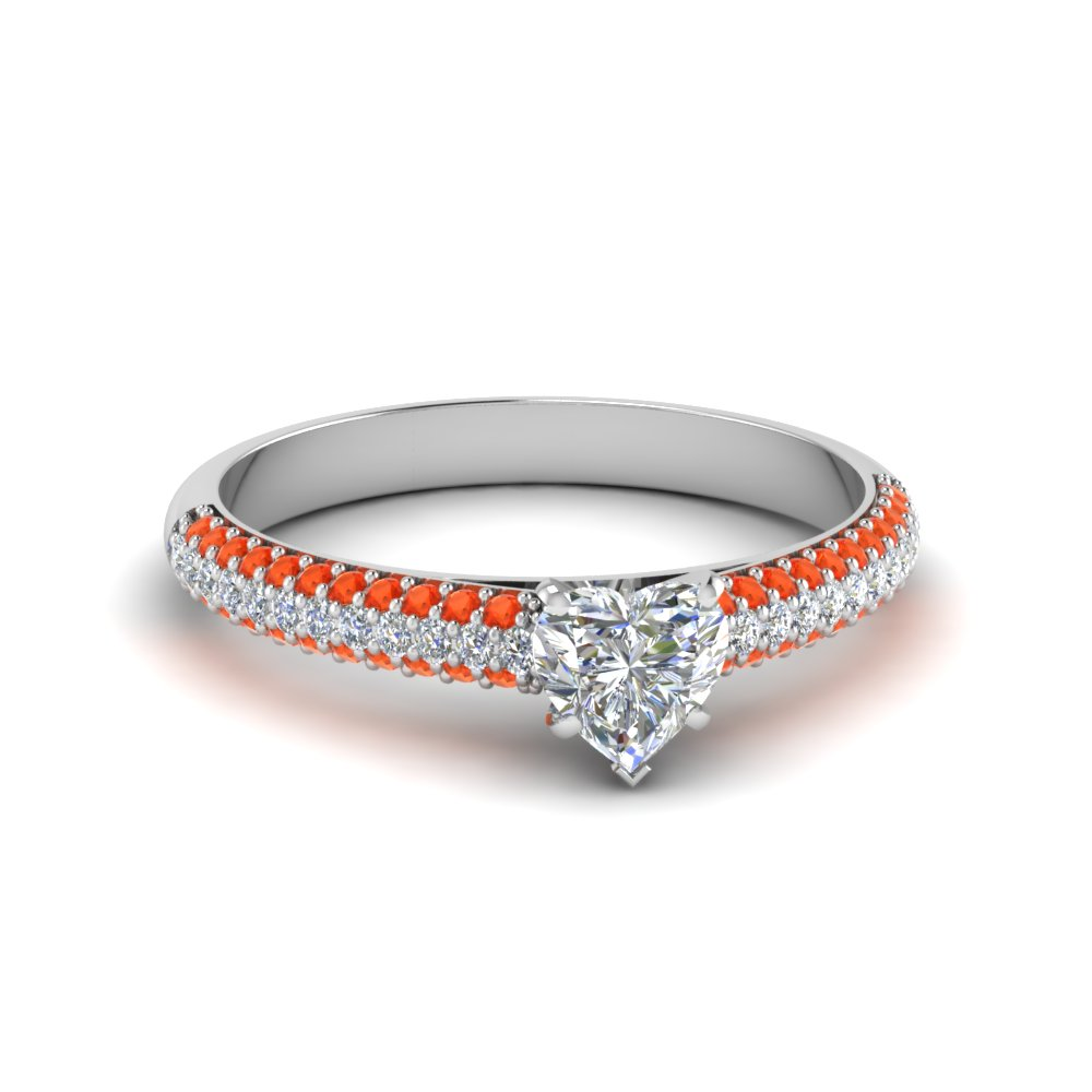 Orange Topaz Engagement Rings