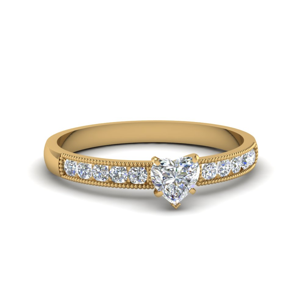 Milgrain Design Engagement Ring
