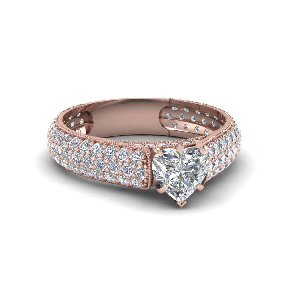 Heart Diamond Celebrity Inspired Engagement Ring