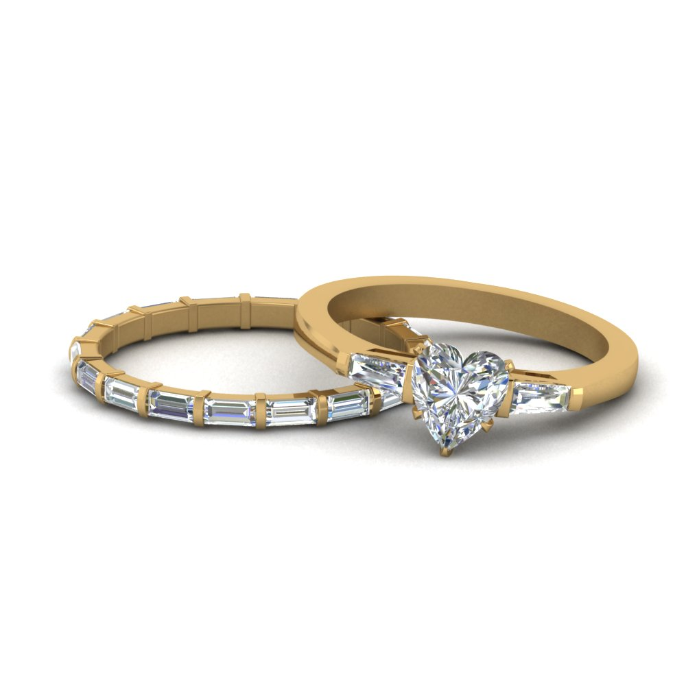 Heart Shaped Bridal Ring Sets