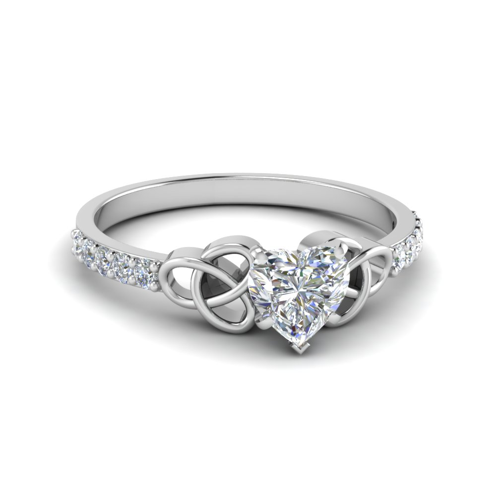 Heart Diamond Irish Ring