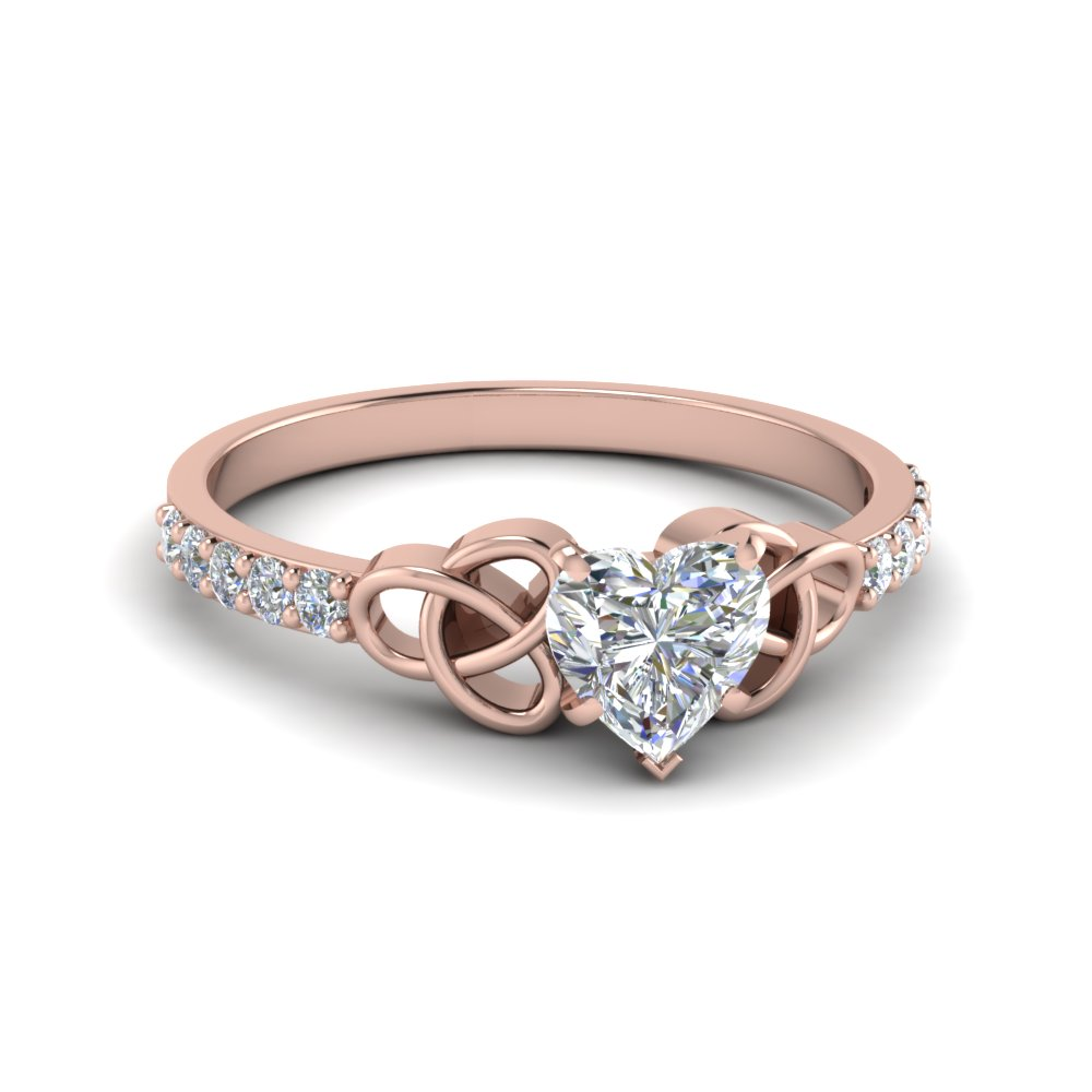 Half Carat Heart Diamond Ring For Womens