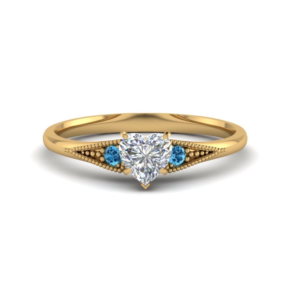 Small 3 Stone Pave Ring