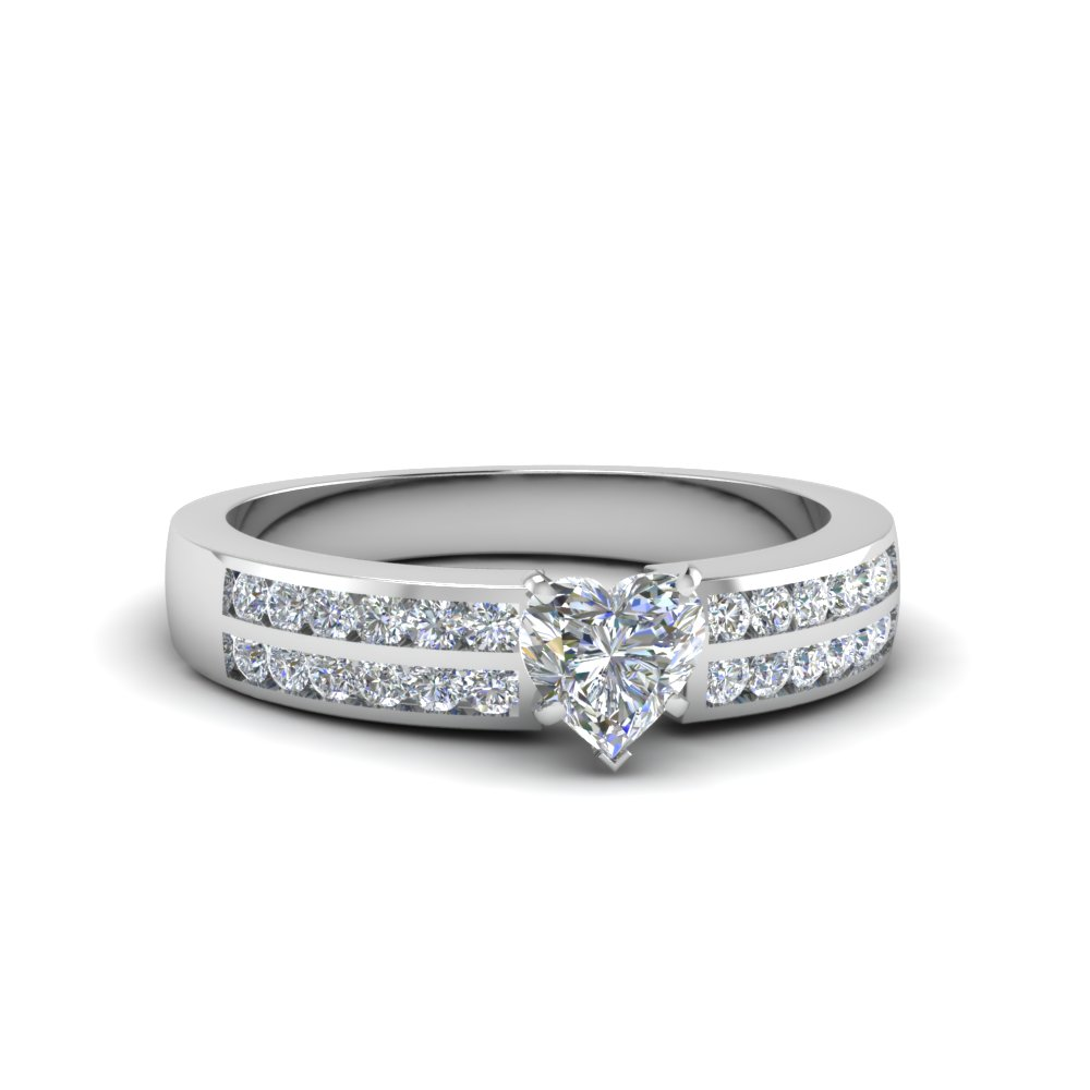 Unique 2 Row Diamond Engagement Ring
