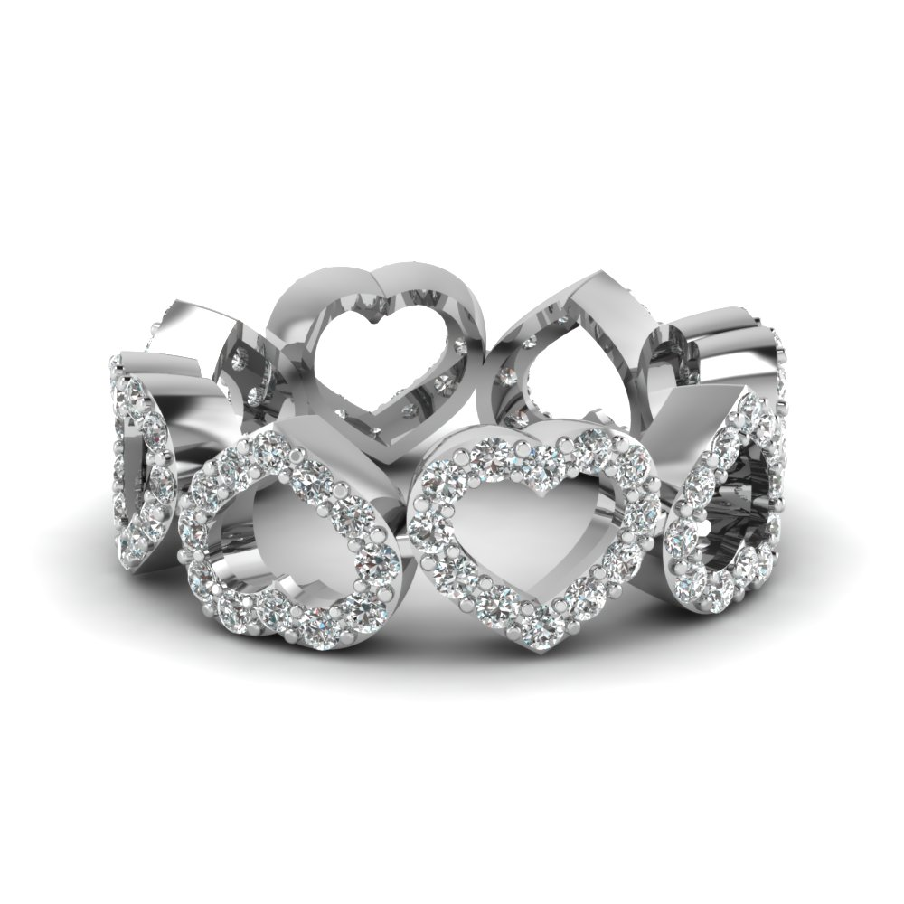 Heart Pattern Eternity Band