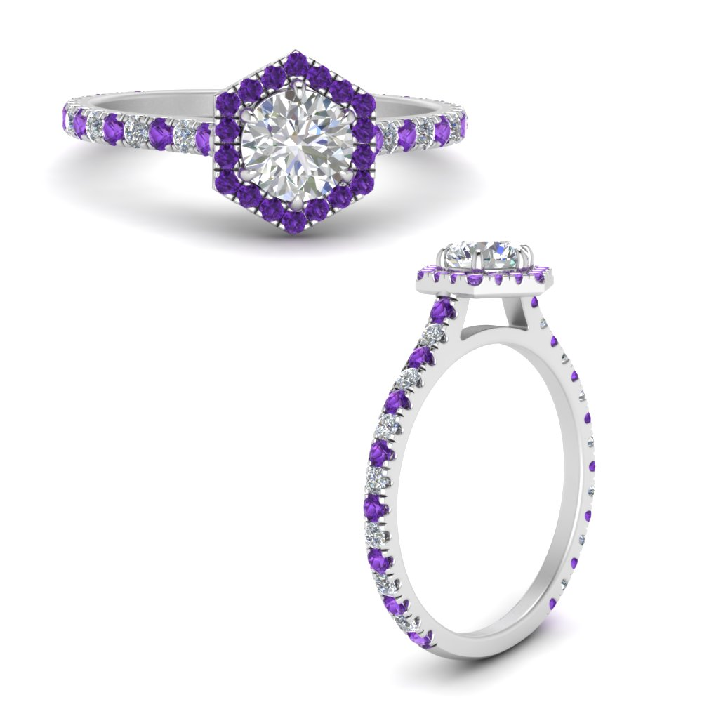 hexagon-round-halo-diamond-engagement-ring-with-purple-topaz-in-FDENS3205RORGVITOANGLE3-NL-WG