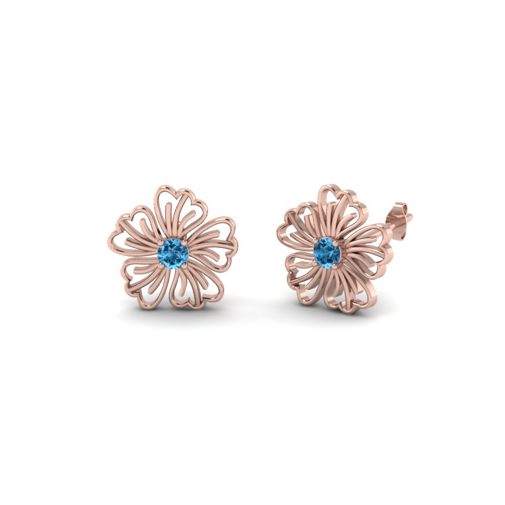 Affordable Stud Earrings Floral Inspired