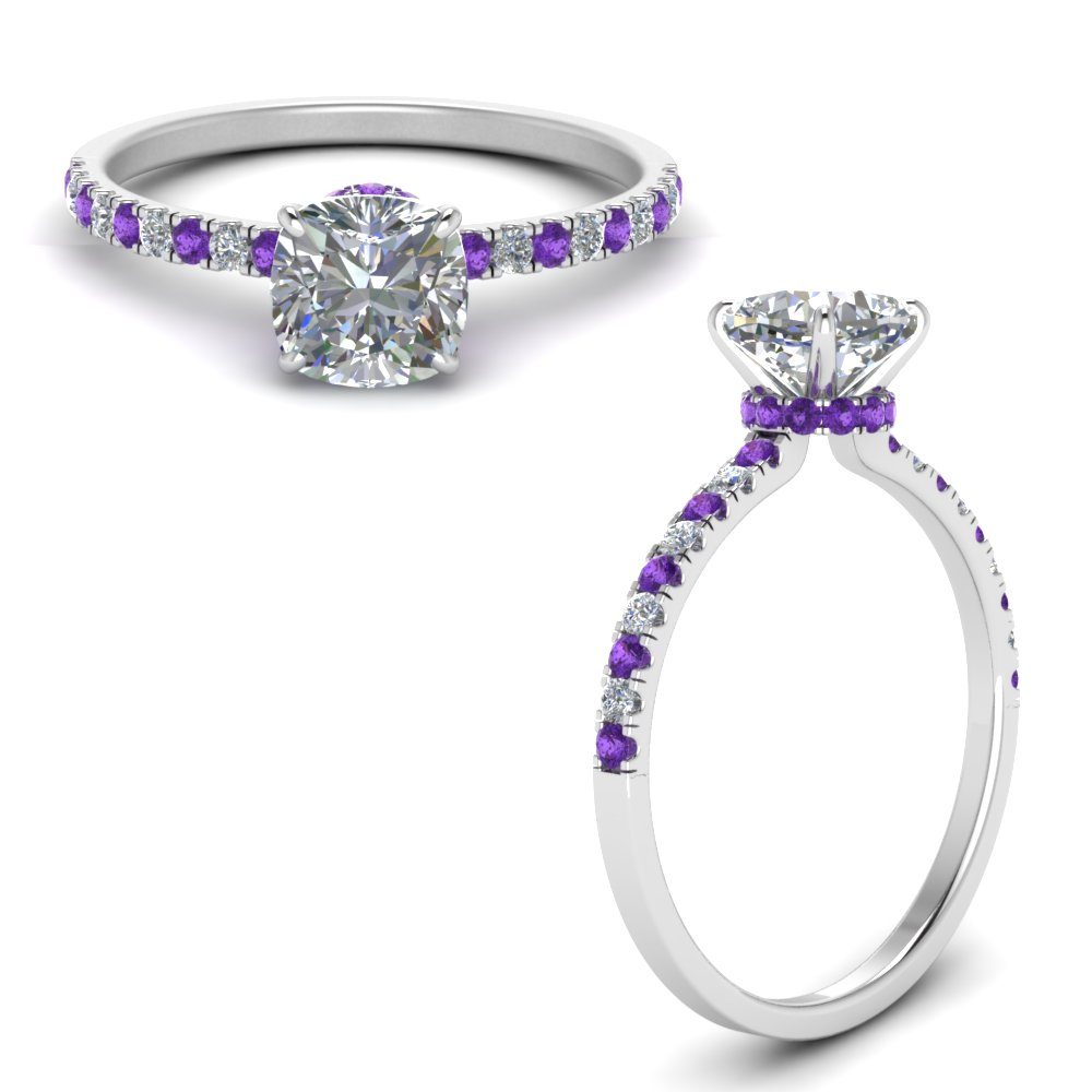 hidden-halo-petite-cushion-cut-diamond-engagement-ring-with-purple-topaz-in-FD9168CURGVITOANGLE3-NL-WG