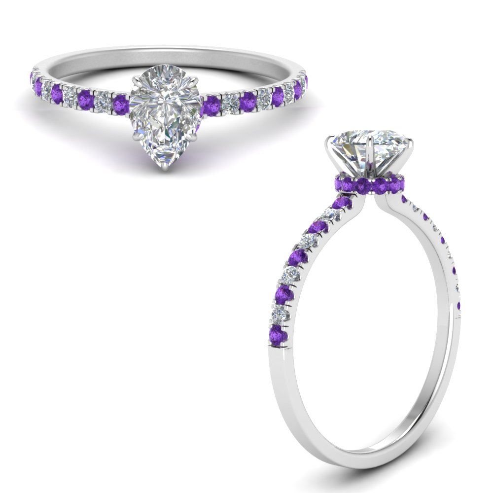 hidden-halo-petite-pear-shaped-diamond-engagement-ring-with-purple-topaz-in-FD9168PERGVITOANGLE3-NL-WG