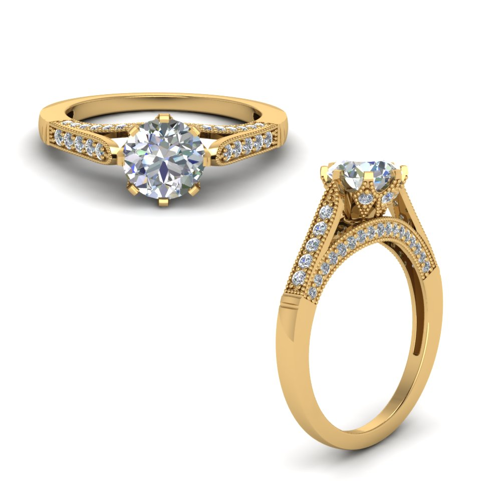 Milgrain Wedding Rings