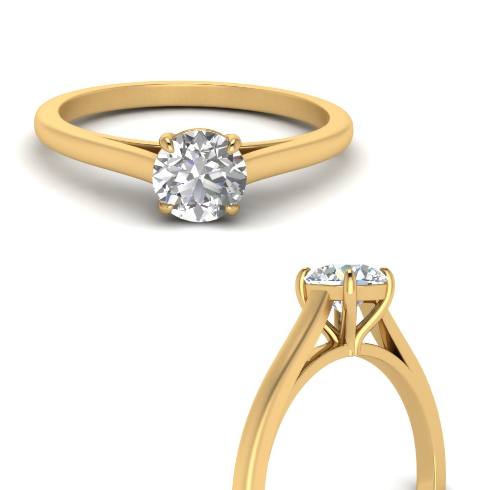 Round Cut Diamond Solitaire Rings