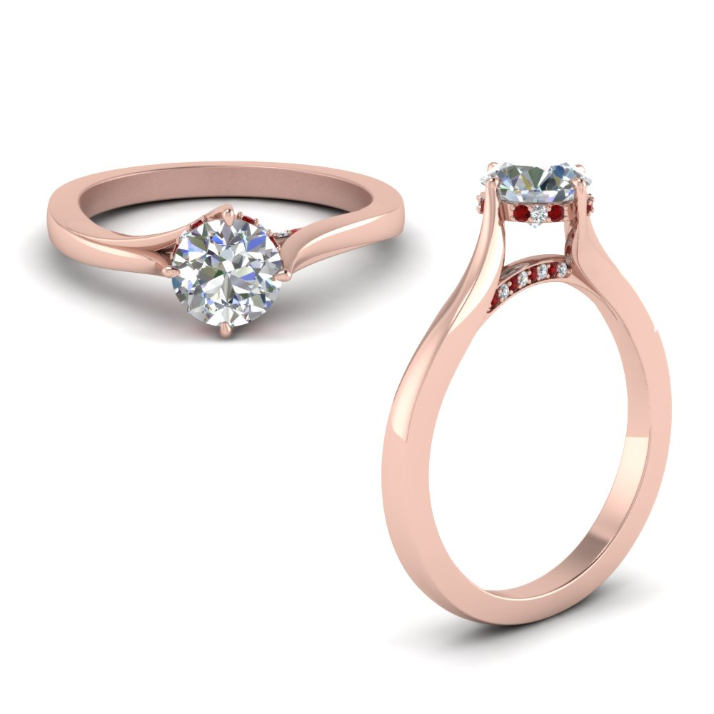 Under Halo High Set Diamond Ring