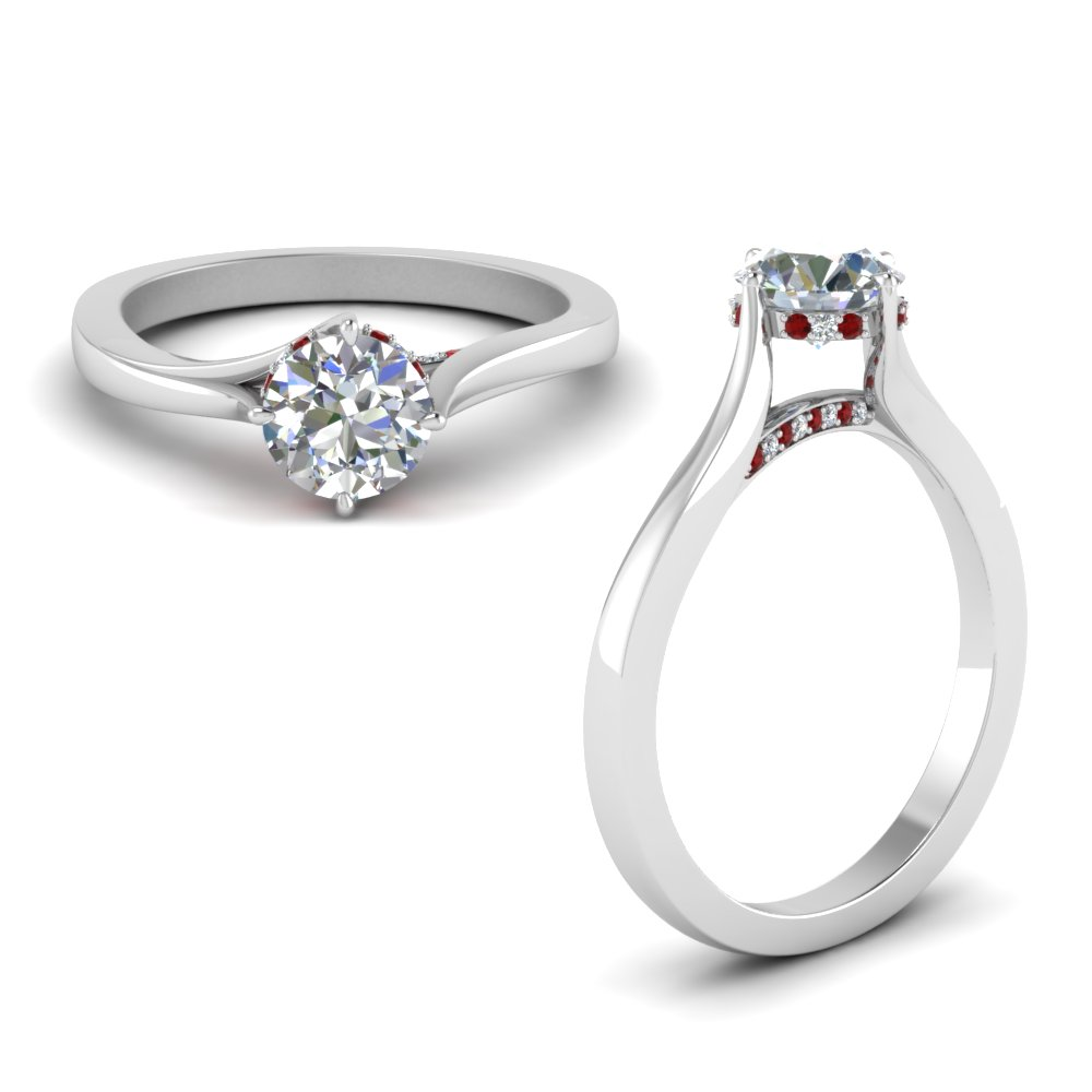 Under Halo High Set Engagement Ring