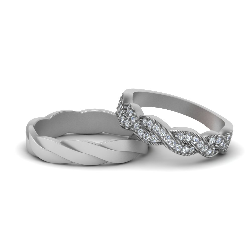 Twisted Matching Band For Couples