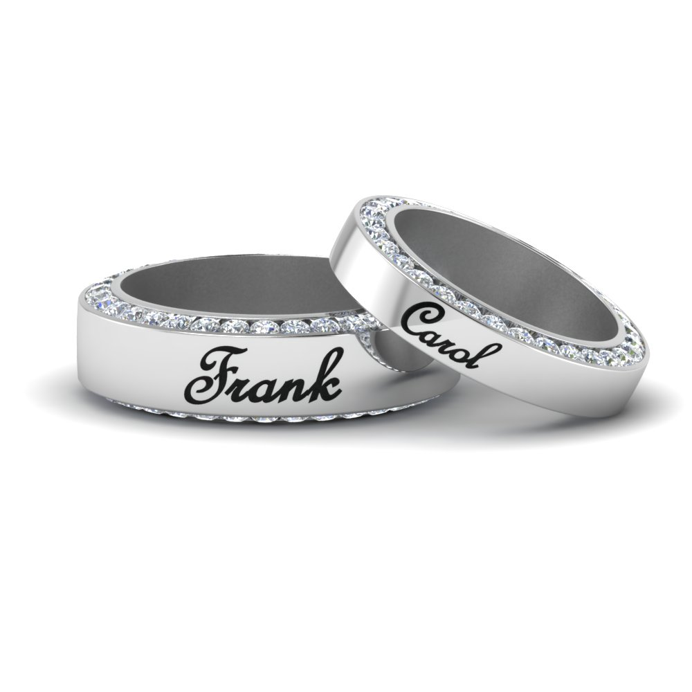 Personalized Promise Couple Rings