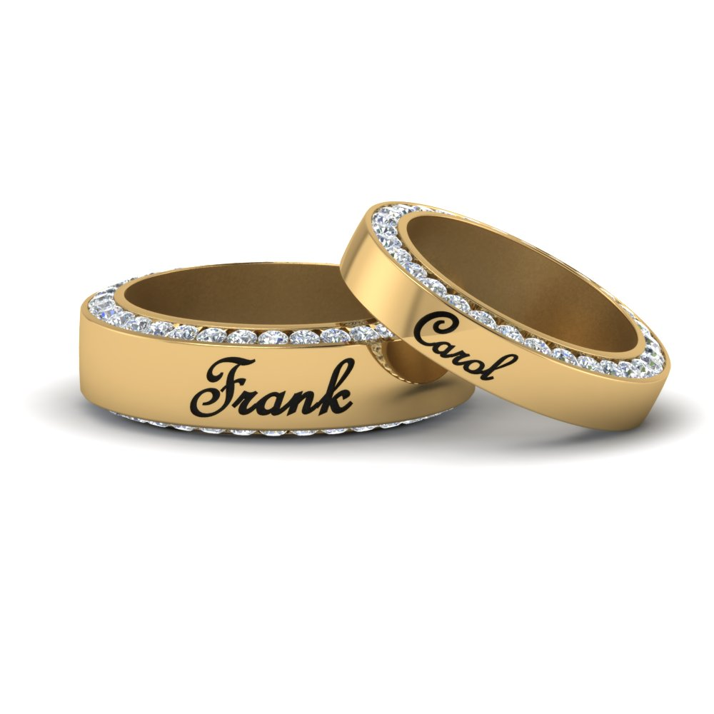 His And Hers Personalized Matching Band
