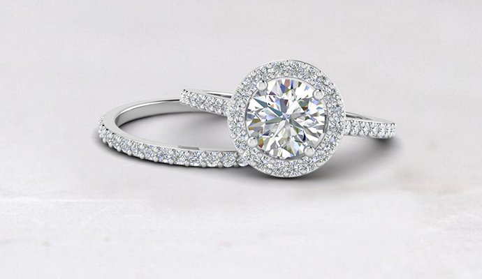wedding ring sets - Engagement And Wedding Ring Set