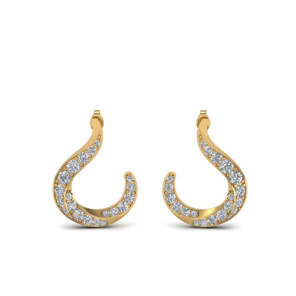 Hook Diamond Stud Earring for Women