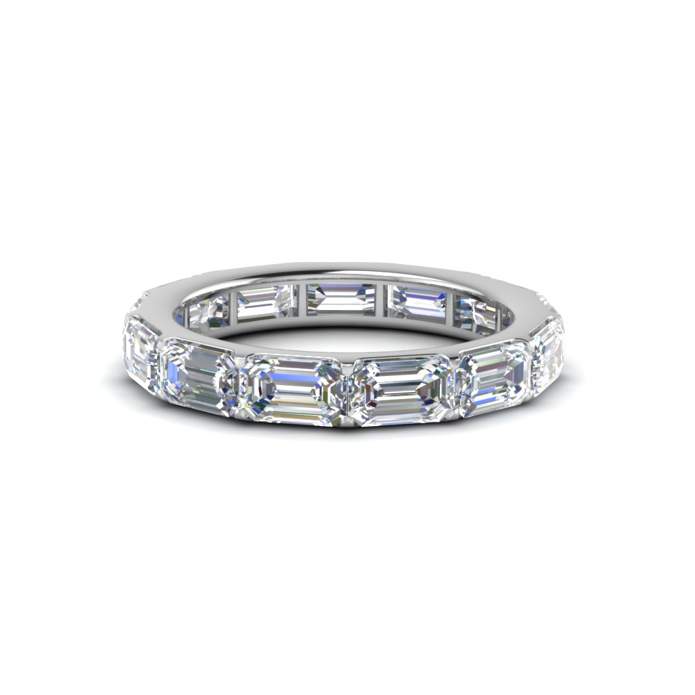 Emerald Cut Horizontal Diamond Band
