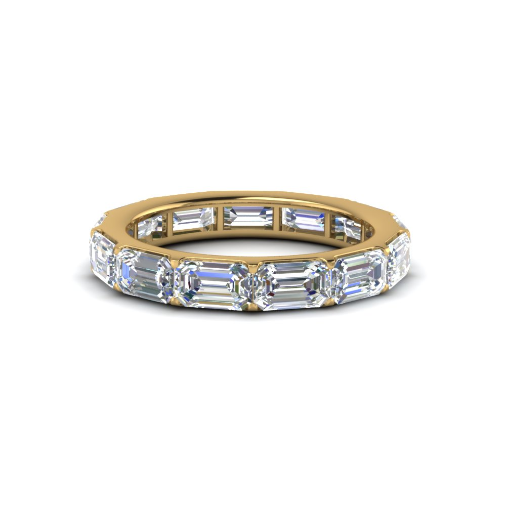 diamond eternity chain gold band unisex cuban white bands design link