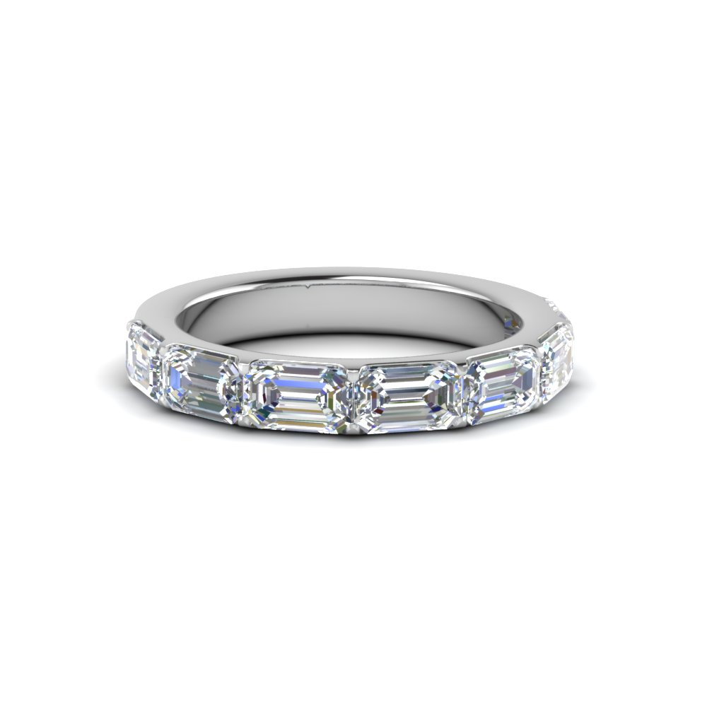 Womens Band In 14K White Gold