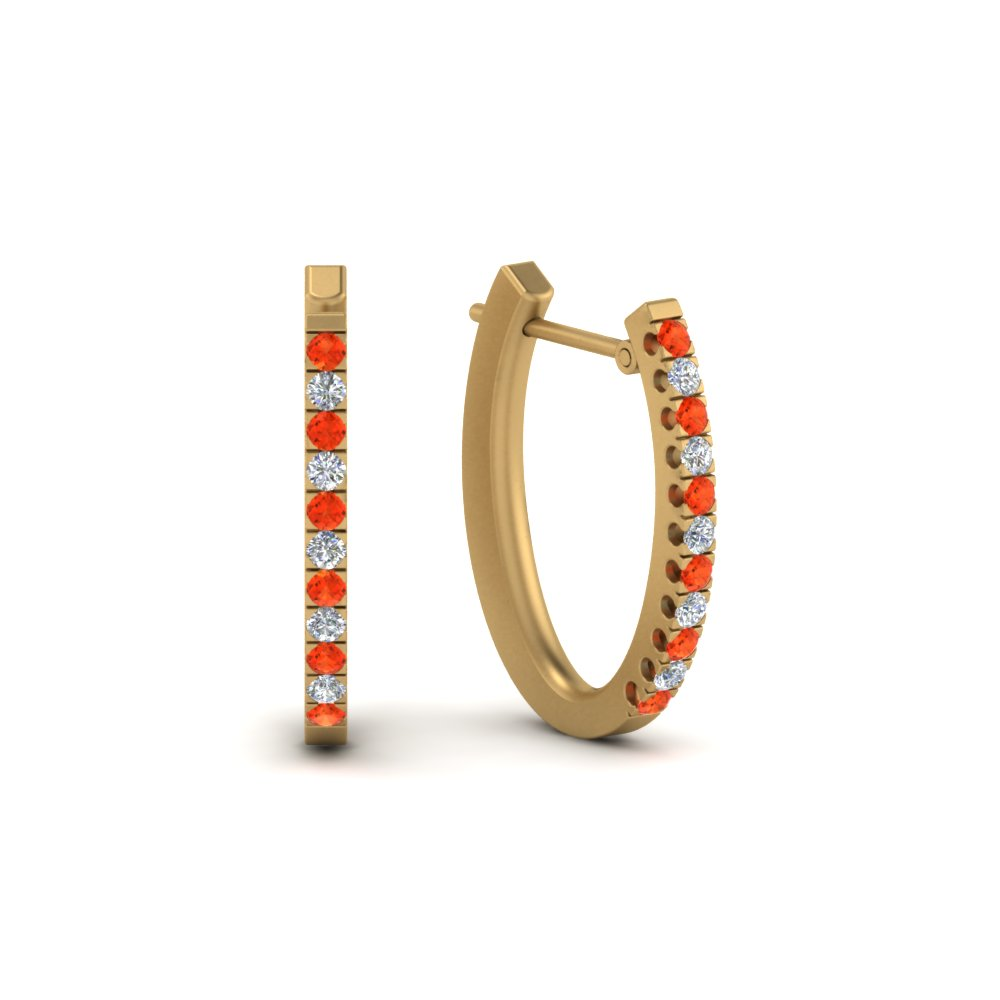 Huggie Orange Topaz Earring