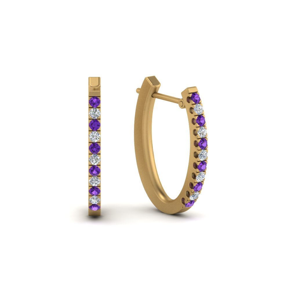 Violet Topaz Earring For Her