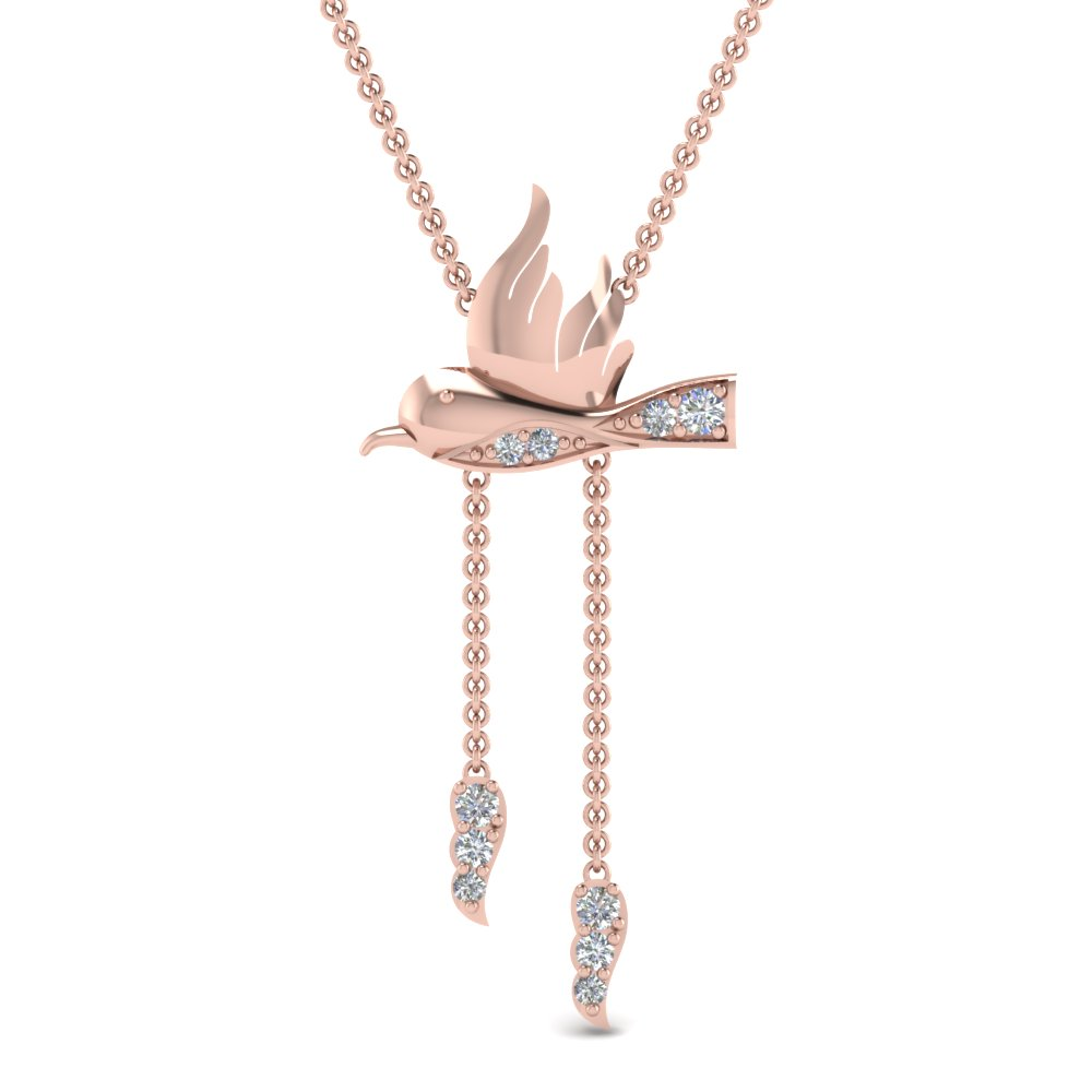 Humming Bird Y Diamond Necklace