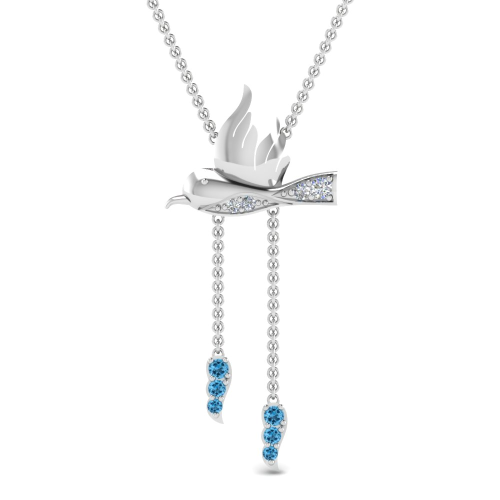 Topaz Dual Drop Necklace