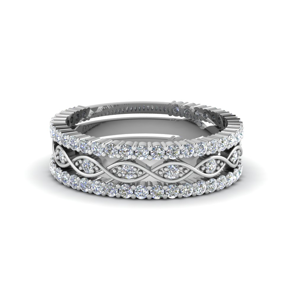 Infinity Diamond Stack Band