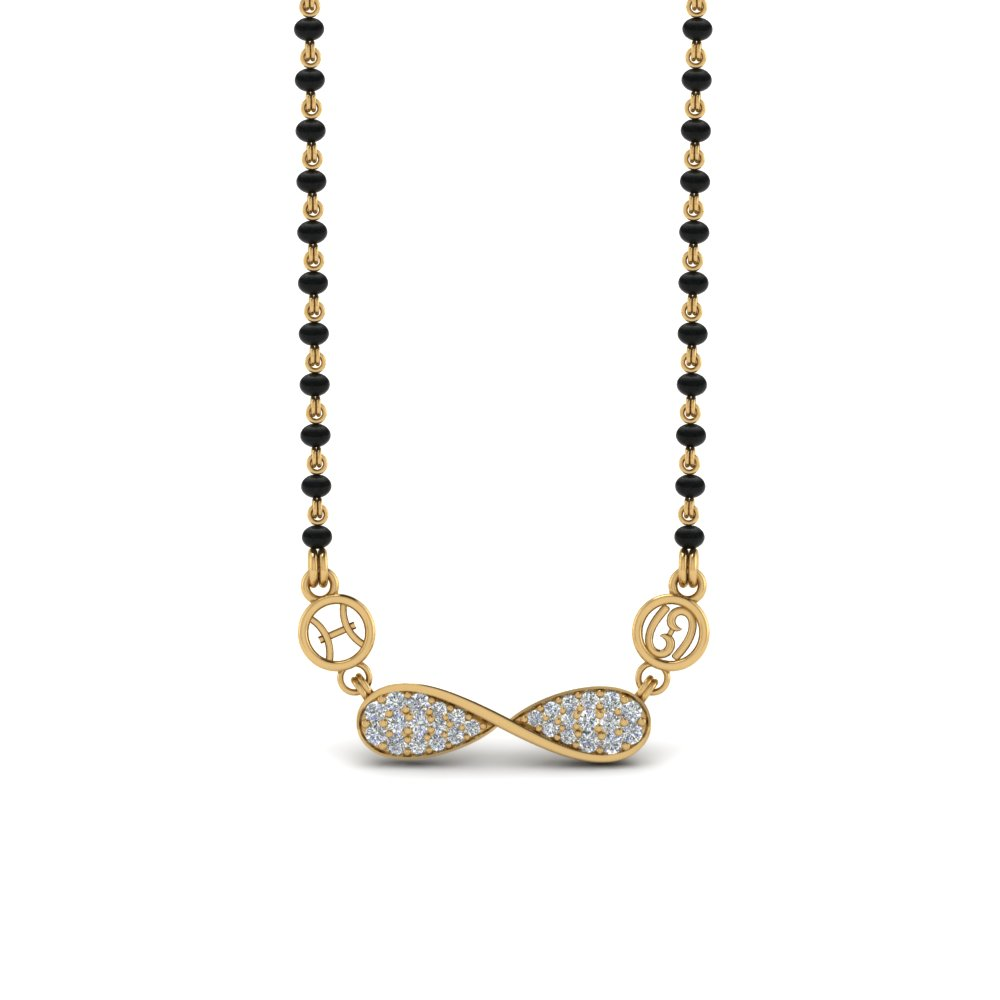 22K Gold Twisted Sun Sign Mangalsutra