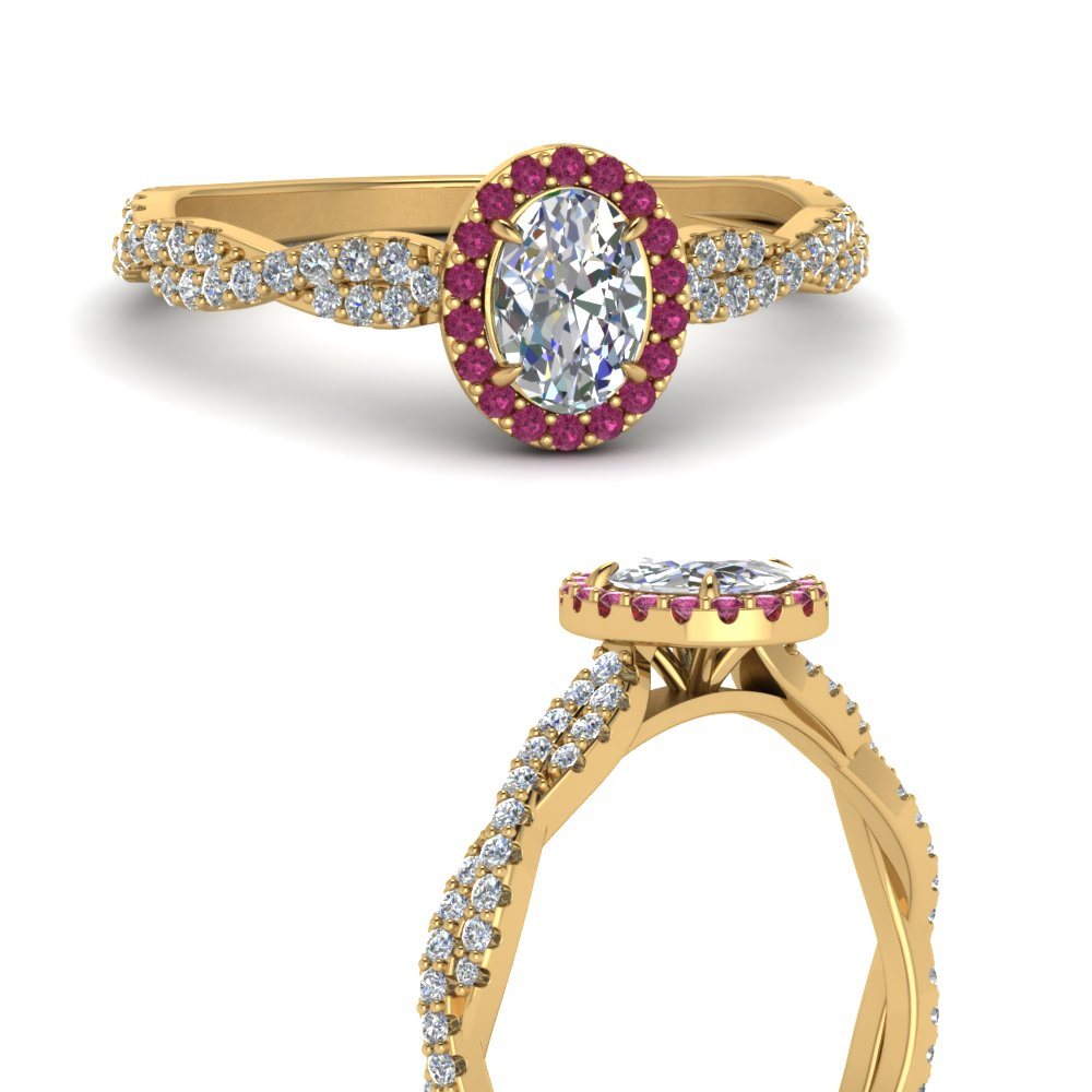 infinity-halo-oval-shaped-diamond-engagement-ring-with-pink-sapphire-in-FD123267OVRGSADRPIANGLE3-NL-YG