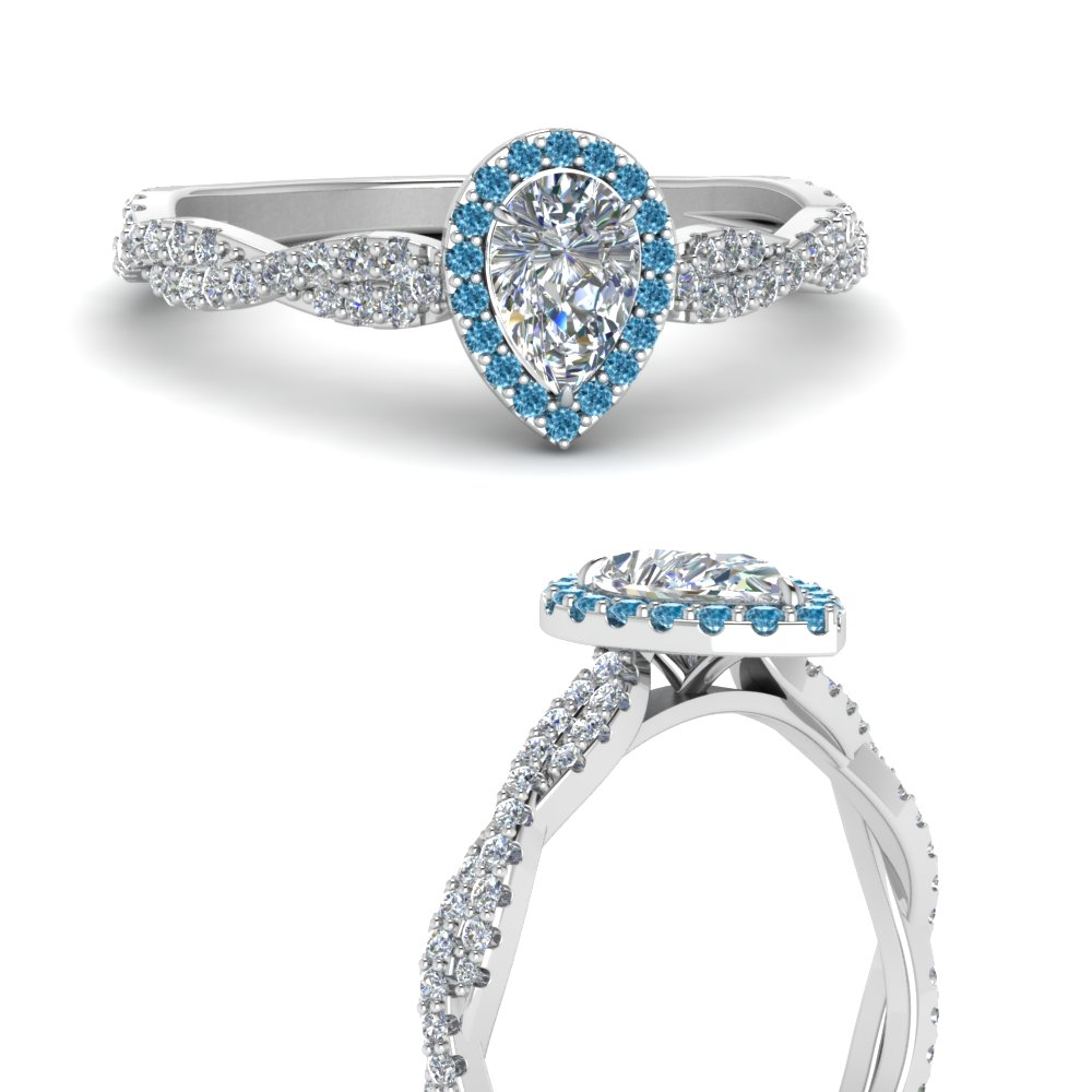 infinity-halo-pear-shaped-diamond-engagement-ring-with-blue-topaz-in-FD123267PERGICBLTOANGLE3-NL-WG