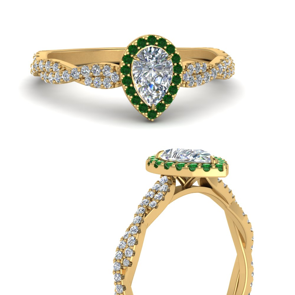infinity-halo-pear-shaped-diamond-engagement-ring-with-emerald-in-FD123267PERGEMGRANGLE3-NL-YG