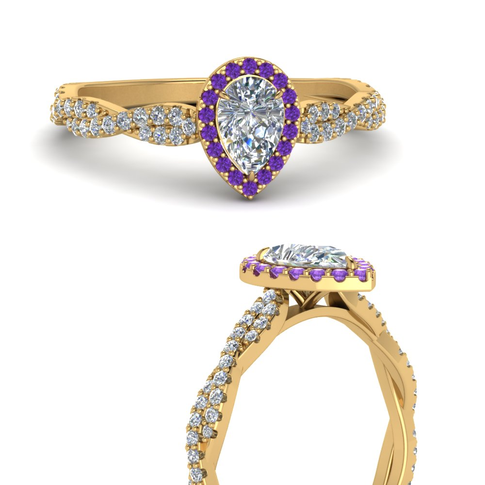 infinity-halo-pear-shaped-diamond-engagement-ring-with-purple-topaz-in-FD123267PERGVITOANGLE3-NL-YG