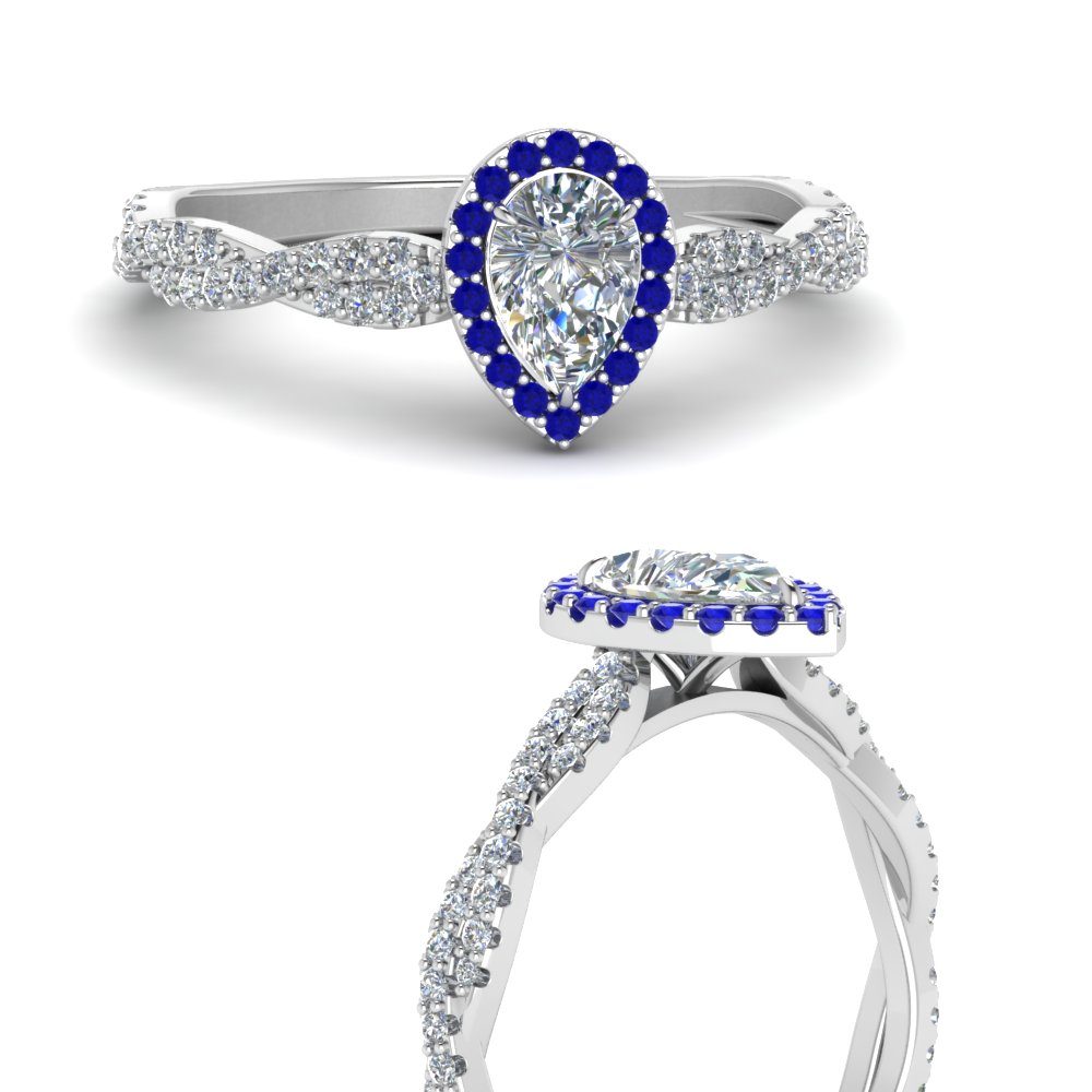 infinity-halo-pear-shaped-diamond-engagement-ring-with-sapphire-in-FD123267PERGSABLANGLE3-NL-WG