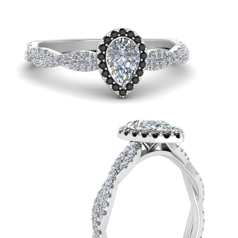 infinity-halo-pear-shaped-engagement-ring-with-black-diamond-in-FD123267PERGBLACKANGLE3-NL-WG