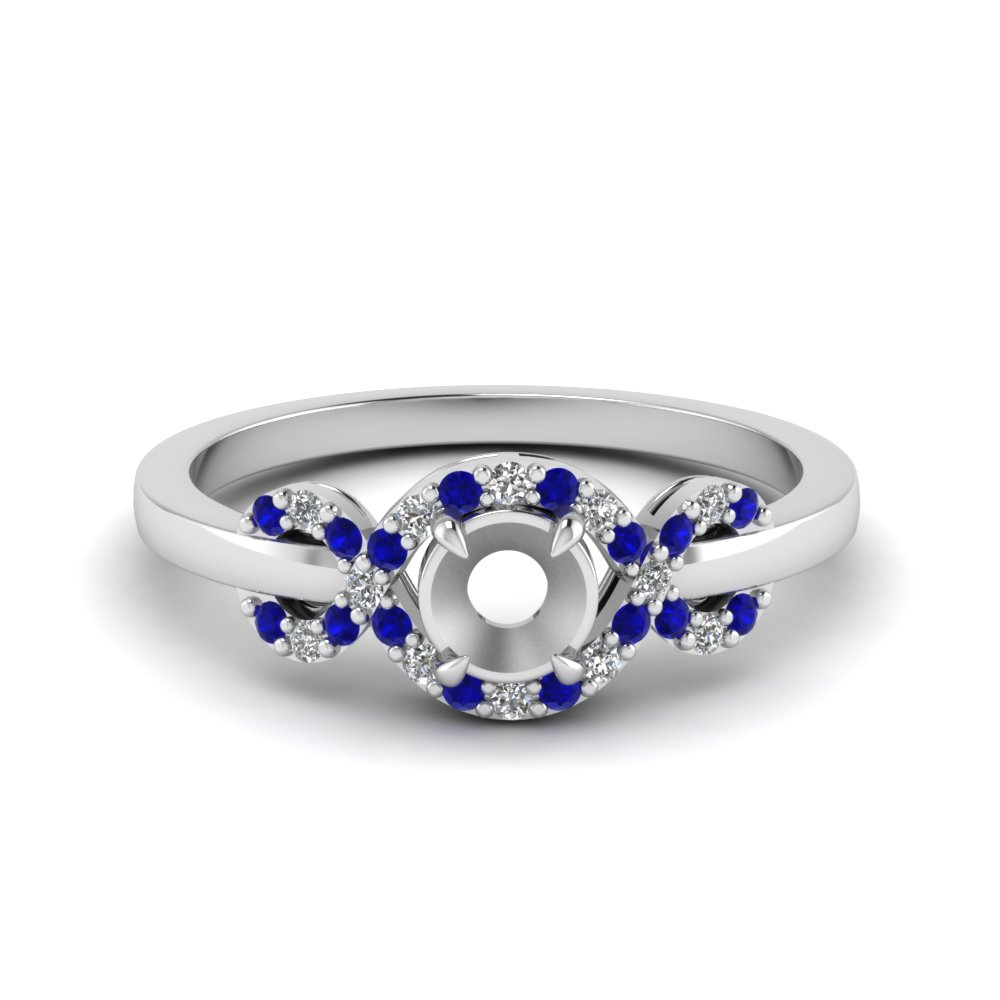 Infinity Halo Sapphire Ring Setting