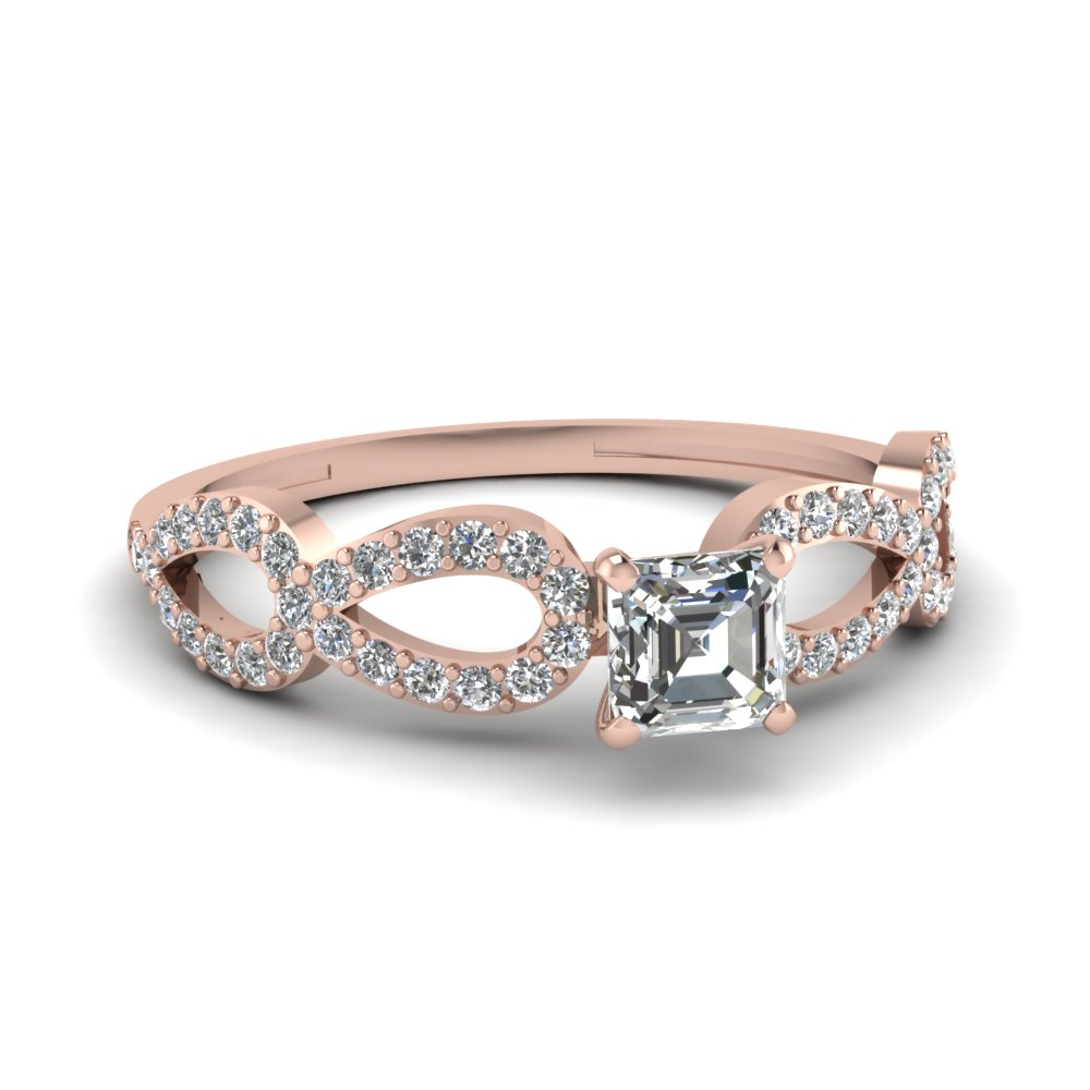 Infinity Diamond Rings For Her