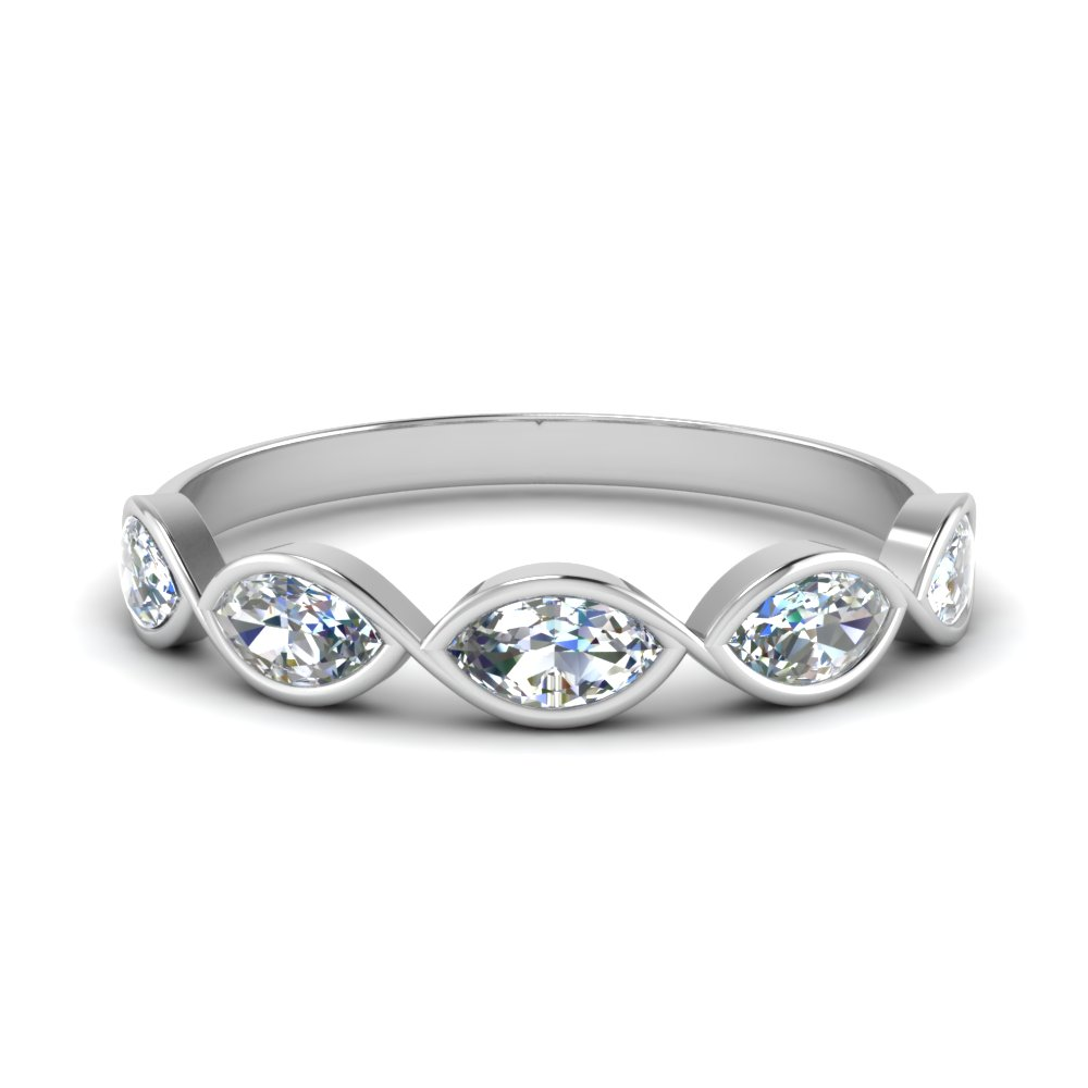 0.75  carat bezel set infinity band