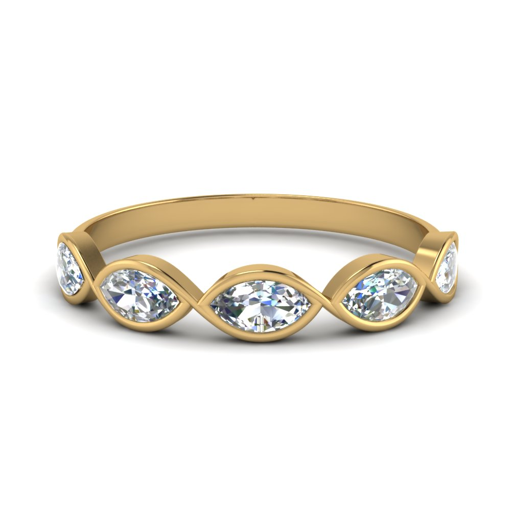 Five Stone Marquise Diamond Band