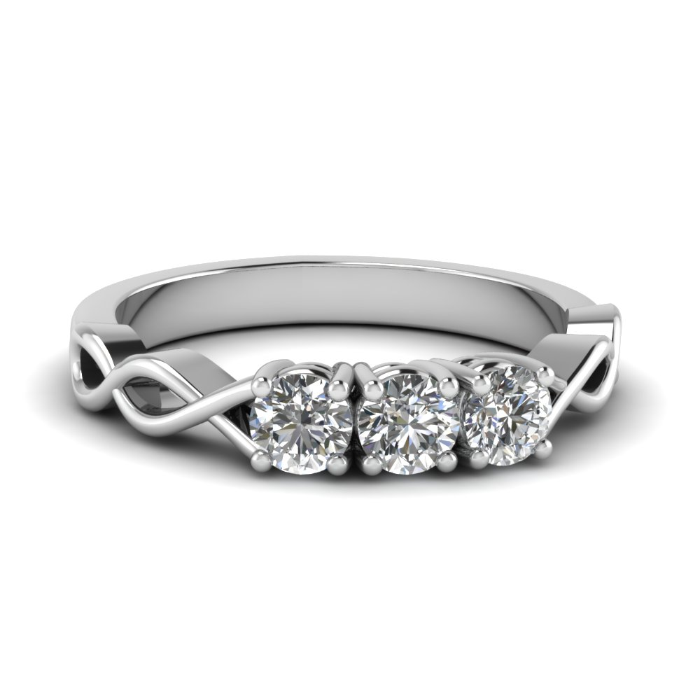 3 stone infinity promise band in FD122861B NL WG