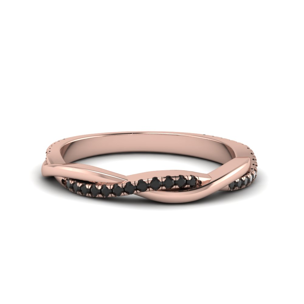 Infinity Twist Black Diamond Band