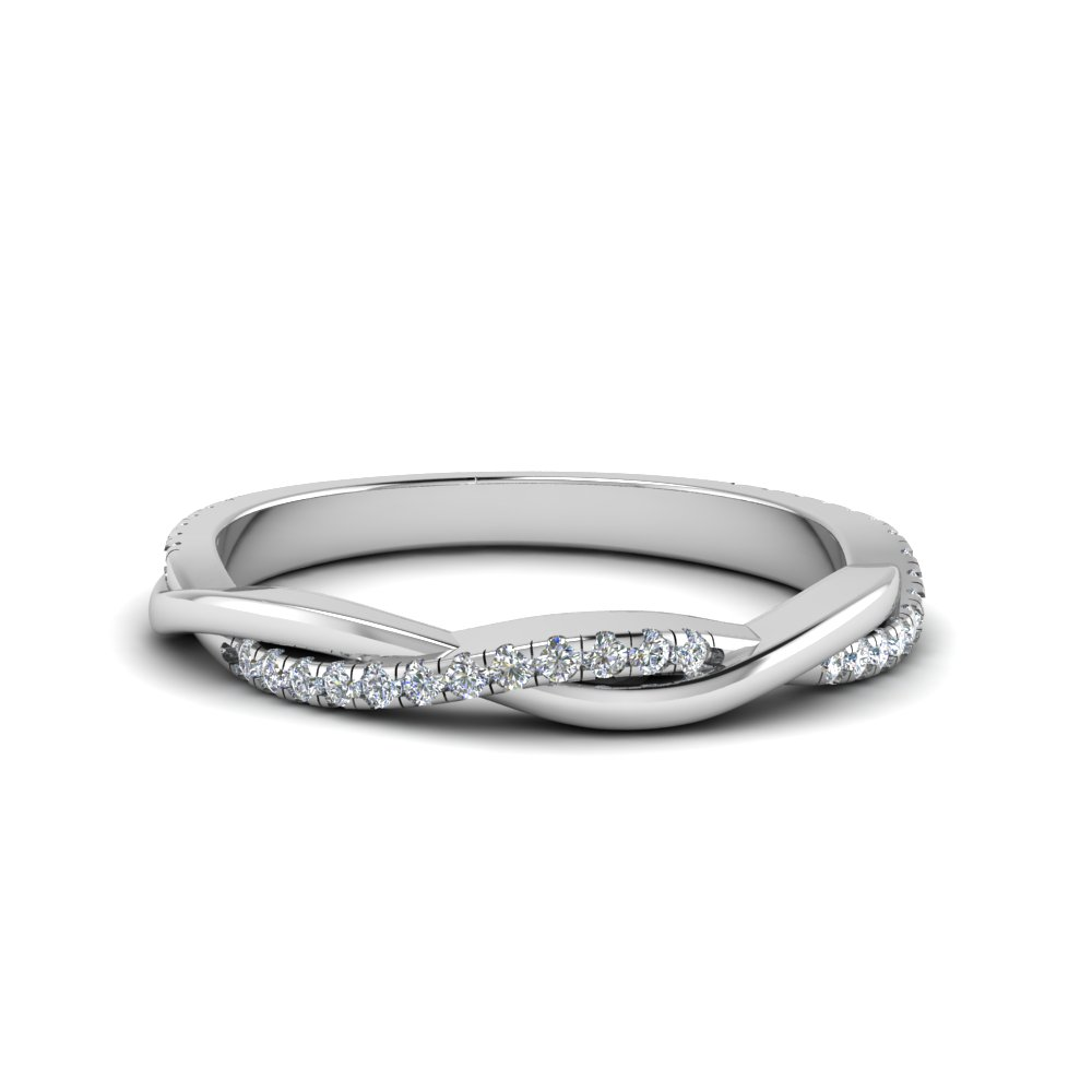 Infinity Twist Diamond Band