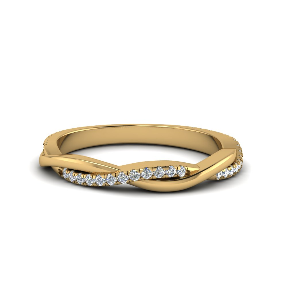 infinity twist diamond band in FD8253B NL YG