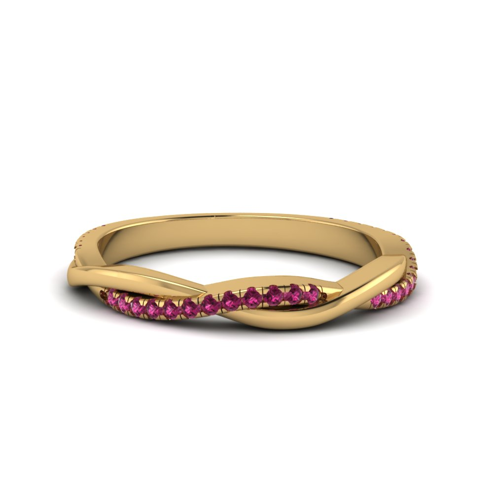 Twist Band With Pink Sapphire